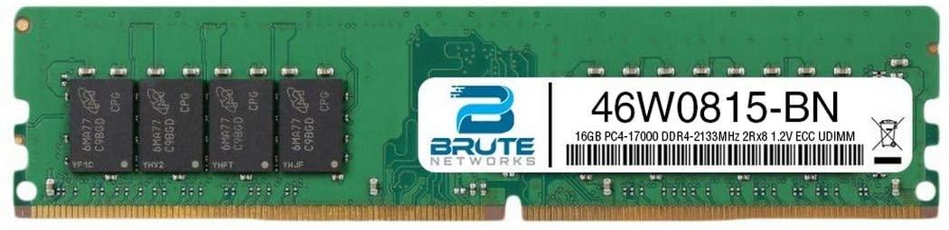 Brute Networks 46W0815-BN - 16GB PC4-17000 DDR4-2133MHz 2Rx8 1.2V ECC UDIMM (Equivalent to OEM PN # 46W0815)