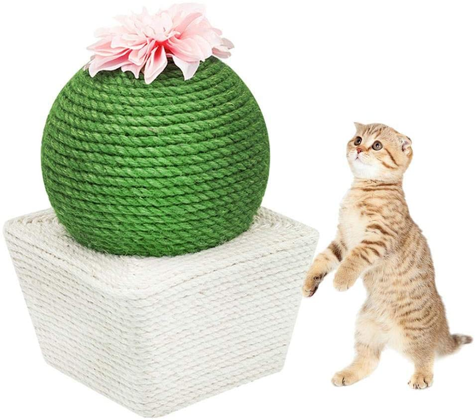 weemoment Pet Cat Scratch Board Durable Scratching Pad Pet Scratch-Resistant Scratch-Resistant Sofa Grinding Claw Toy Sisal Cat Climbing Frame Cat Toy Ball benchmark