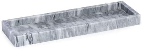 Bey-Berk Cloud Gray Marble Bath Tray