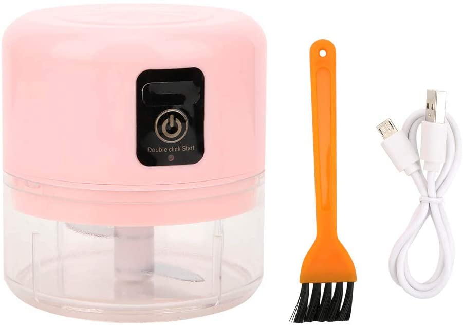Seasoning Spice Mincers Intelligent Mini Electric Garlic Press Chopper Crusher USB Rechargeable Kitchen Accessory Pink