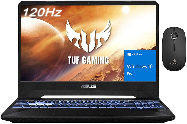 ASUS TUF Gaming Laptop, 15.6 Inch 120Hz FHD 1080P, AMD Ryzen 5 3550H up to 3.7GHz, GeForce RTX 2060 6GB, Backlit KB, 16GB RAM, 2TB PCIE SSD (Boot) + 1TB HDD, Win10 Pro + NexiGo Wireless Mouse Bundle