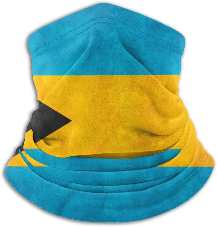 Bahamas Flag Unisex Bandana Face Mask Warmer Neck Tube for Dust Wind Sun Protection