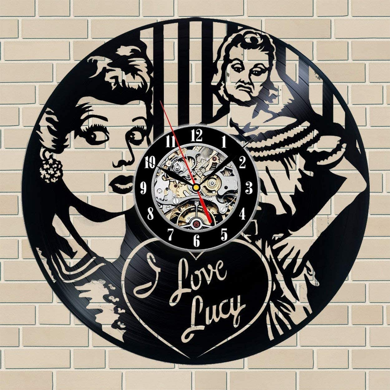 Wood Crafty Shop Movie Vinyl Record Wall Clock Gift for Him and Her Unique Wall Decor The Best Gift Idea for Any Event Birthday Gift, Wedding Gift