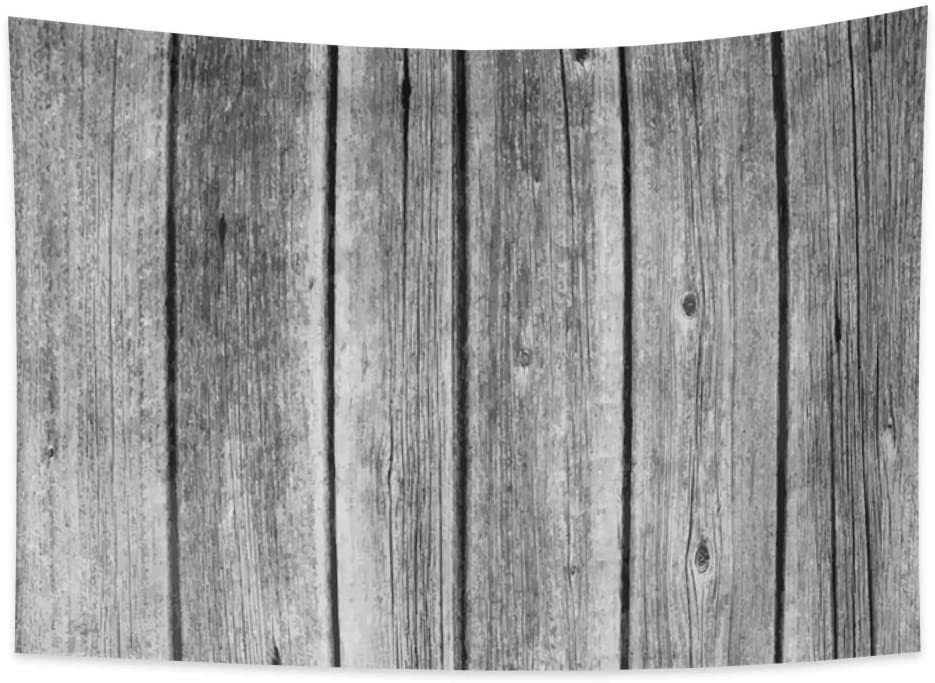 OERJU 70.9x63.0 inches Wooden Tapestry Dark Color Wood Plank Burlywood Modern Style Realistic Bed Cover Nature Tree Trunk Wall Hangings Bedroom Decor College Dorm Picnic Beach Blanket Tablecloth