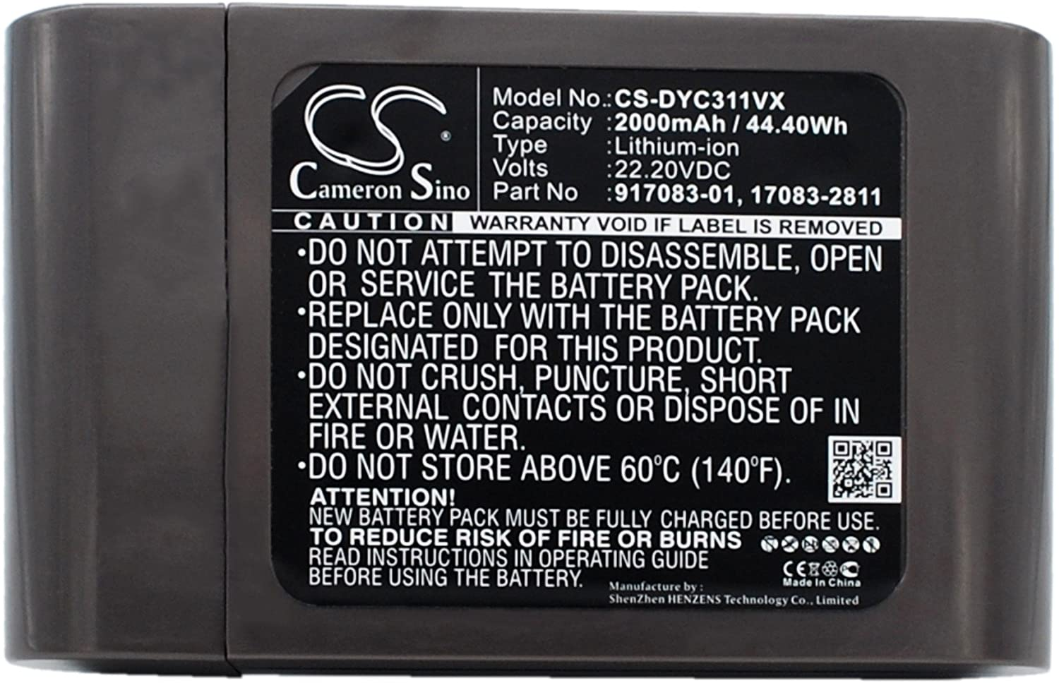 Replacement Battery for Dyson DC35 DC44 DC34 DC44 Animal DC31 DC31 Animal DC35 Exclusive DC44 Animal Fuchsia DC44 Animal Total Clean DC44 Exclusive 17083-2811