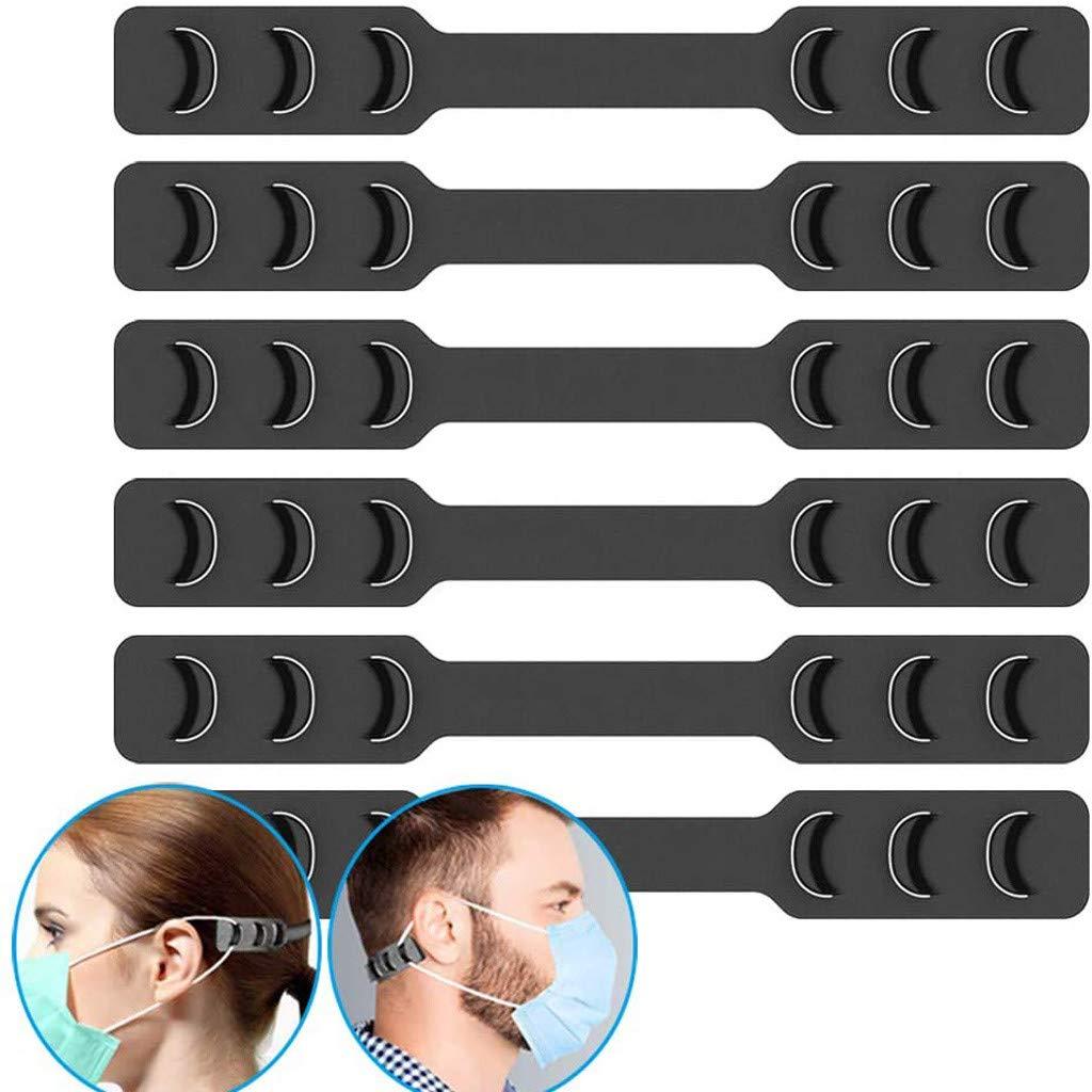 OMGYST 6PCS Face Bandana_Covering_MASK Band Extenders Màsc Elastic Extender Strap Washable Adjuster Protect Ear Break for Sport Adults Kids
