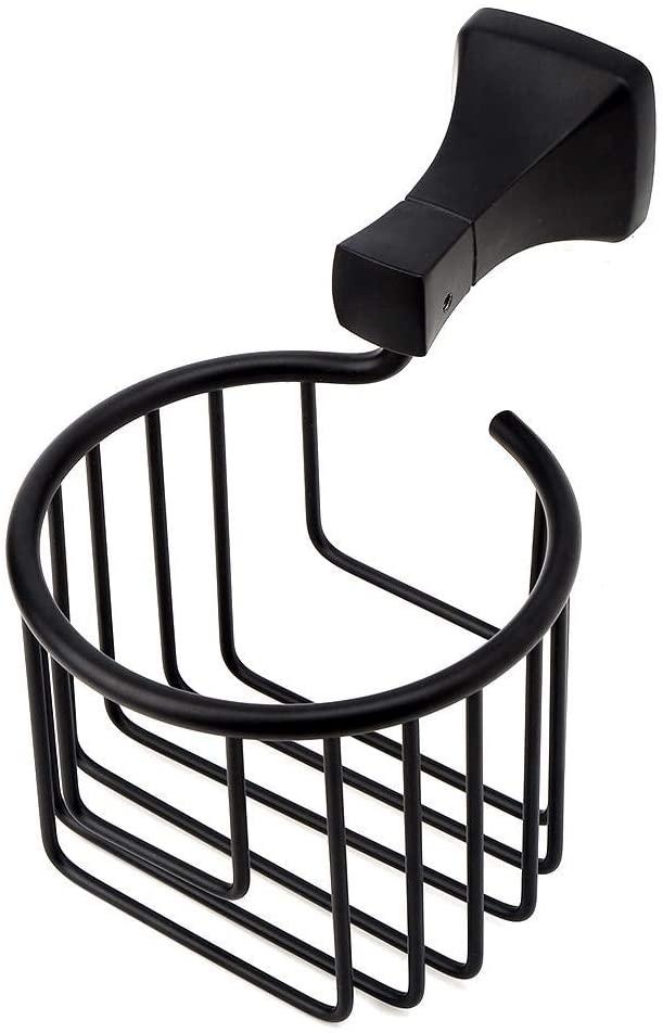Wall Mounted Toilet Paper Holder Basket Tissue Organizer Rack for Bathroom