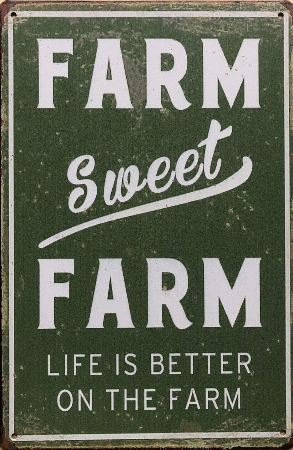 Farm Sweet Farm Garage Rustic Vintage Tin Signs Man Cave, Shed,bar & Home Decor