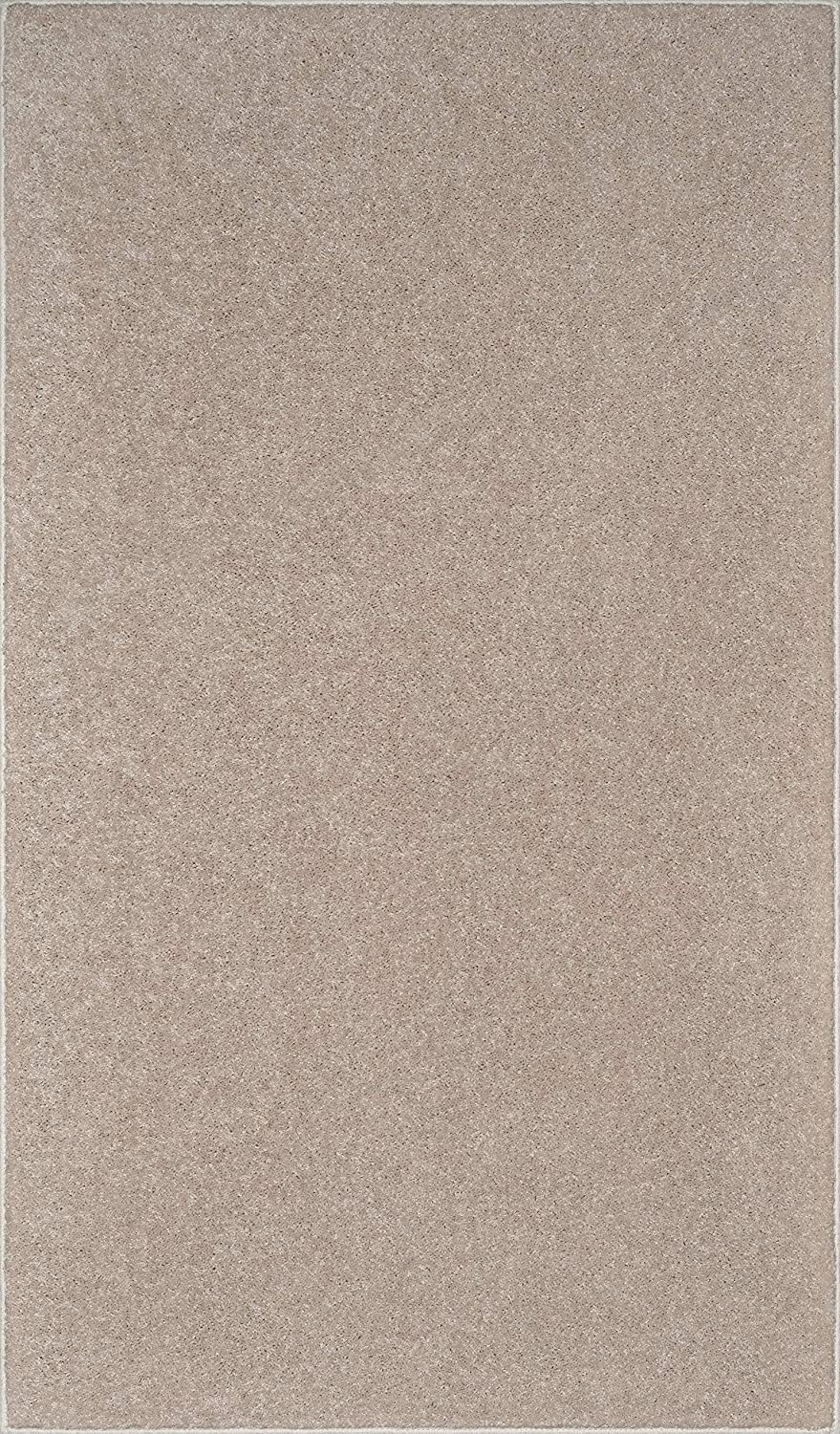 Ambiant Solid Color Oversize Area Rug Beige, 5' x 7'