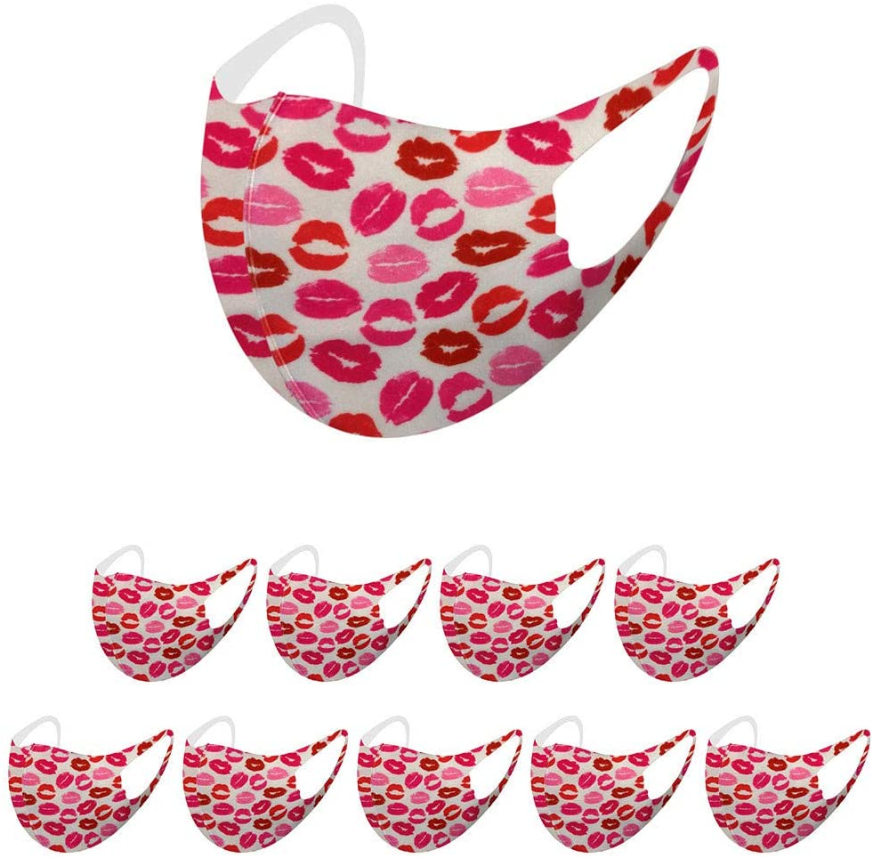 10 Pack Kids Reusable Cotton Face Bandanas, Fashion Printed, Ice Silk Breathable and Comfortable, Reusable & Washable, Indoors and Outdoors