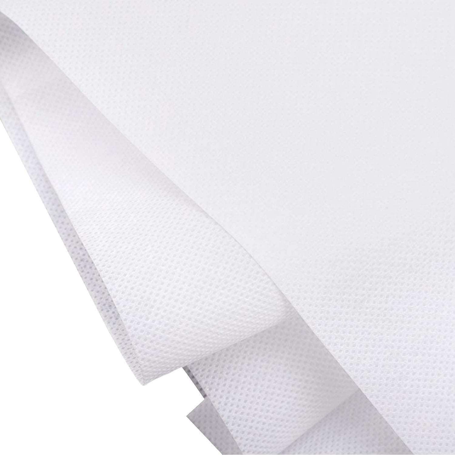 Cloth Disposable Waterproof Non-Woven Fabric, 95% Polypropylene Fabric, Necessities Thickened Disposable Non-Woven Fabric, DIY Handmade Material(20m) White