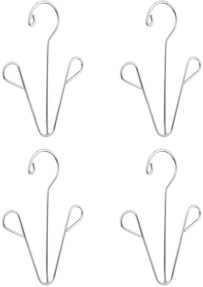 TOPBATHY 4pcs Shoes Hanger Drying Racks Shoe Display Hooks Slippers Hangers Boot Drying Racks Silver