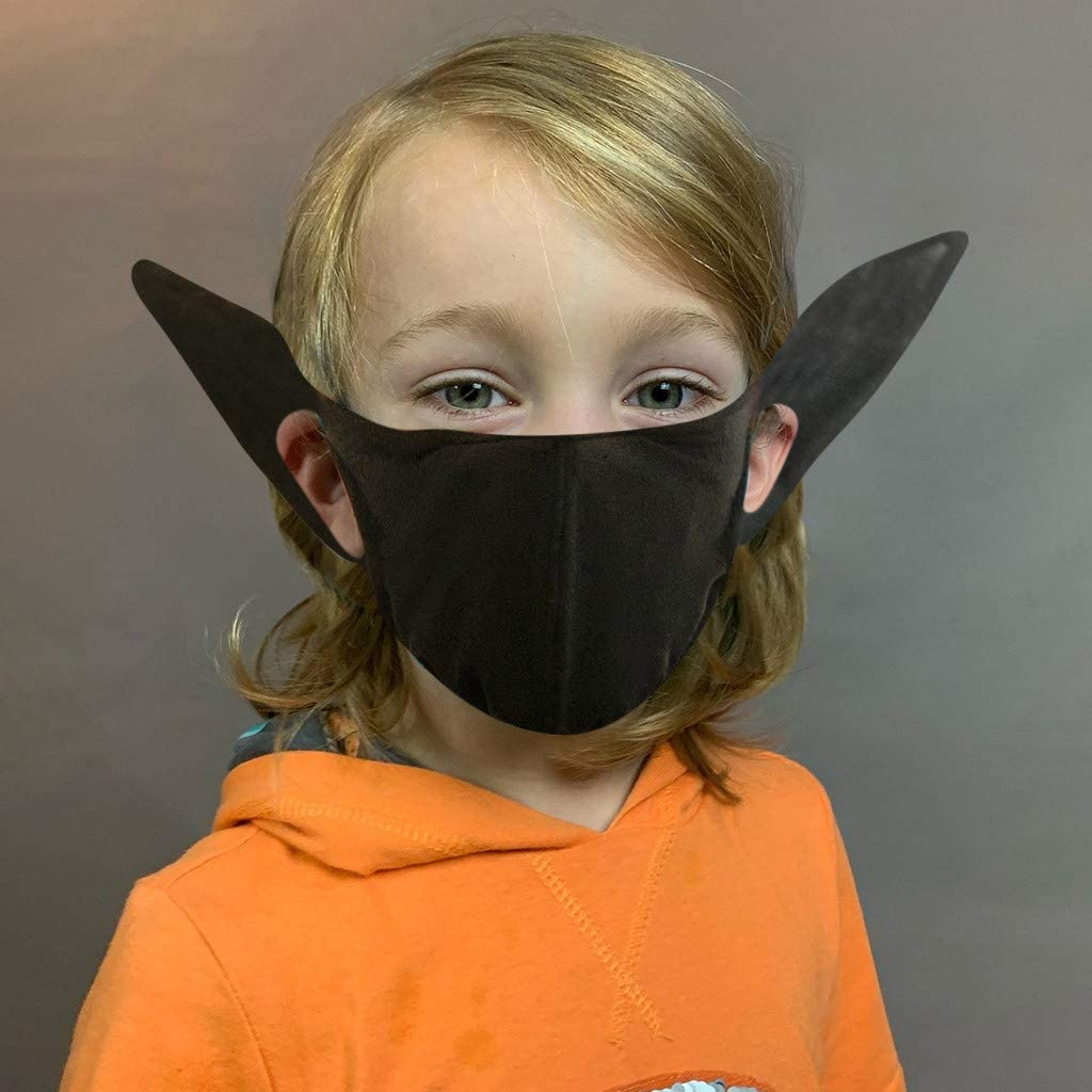 Youdw 1PC Kids Funny Printed Protect_Face_Mask_Cloth with Long Ear,Reusable Washable Bandanas for Outdoor Hiking School Cycling and Halloween【USA 7 Days Fast Shipment 】