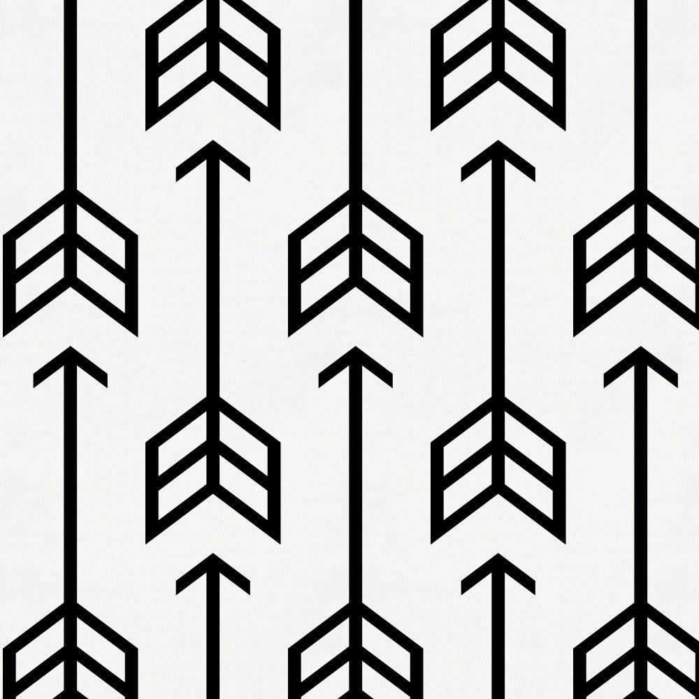 Carousel Designs Black Arrow Fabric by The Yard - Organic 100% Cotton