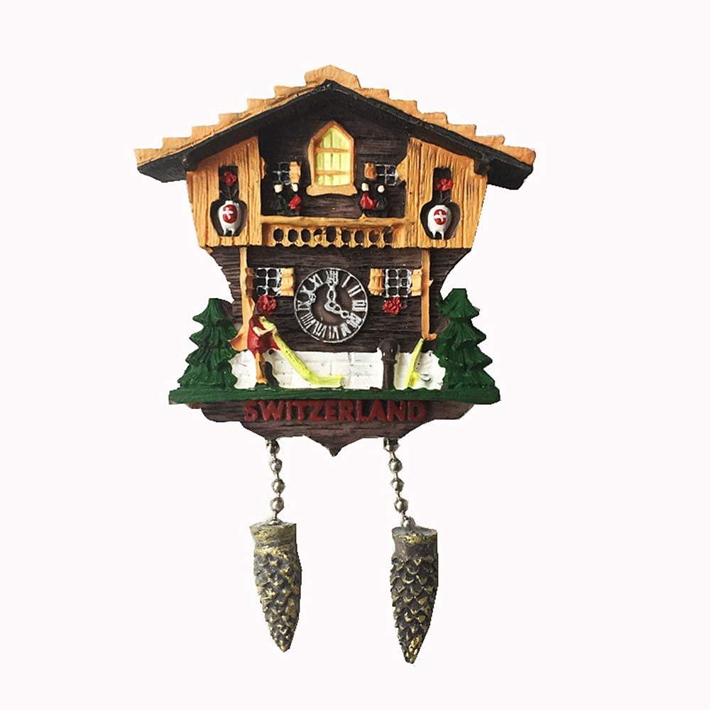 Cuckoo Clock Switzerland 3D Fridge Magnet Tourist Souvenir Gift Home & Kitchen Decoration Magnetic Sticker Switzerland Refrigerator Magnet Collection