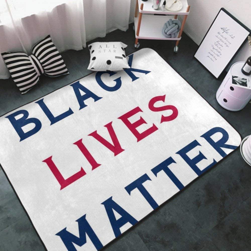 Area Rug Black Lives Matter American Flag Color red na4 Indoor Carpet Unique Multipurpose Indoor Carpet for Living Room, Bedroom, Kitchen, Bathroom Area Rugs