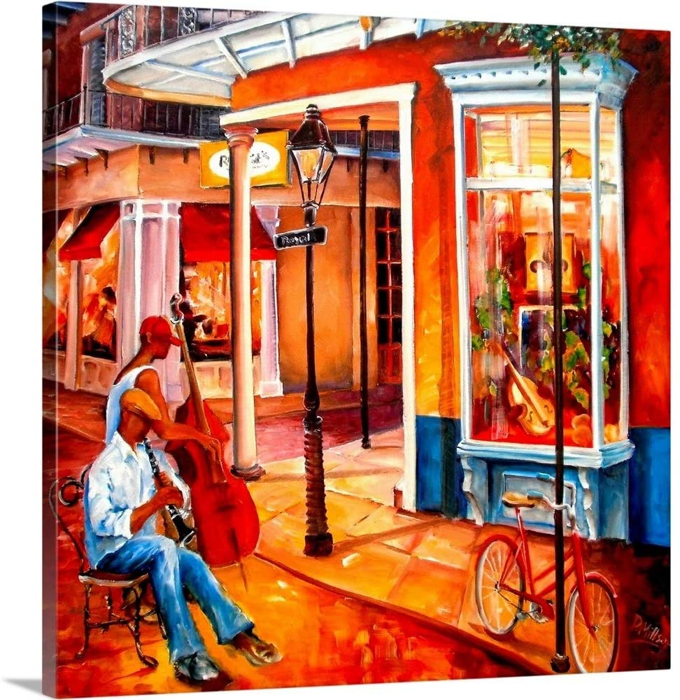 Jazz on Royal Street Canvas Wall Art Print, 16x16x1.25