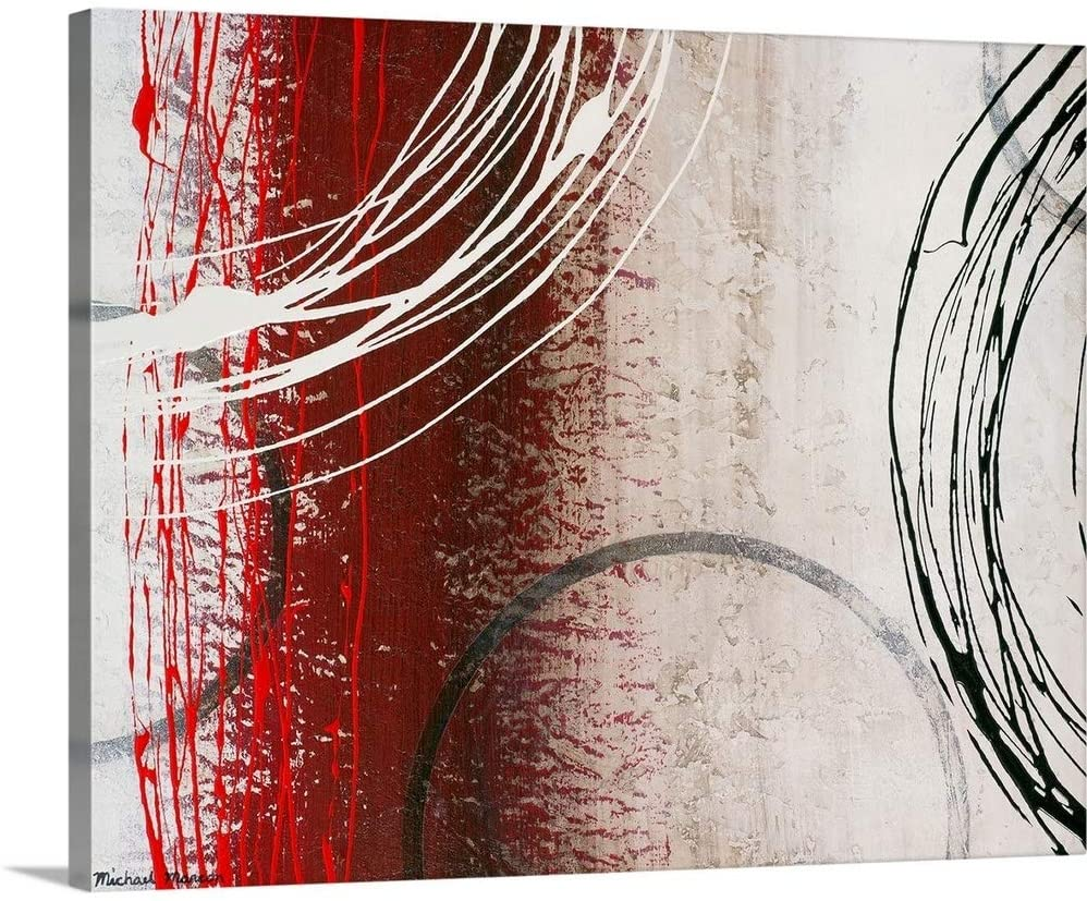 Tricolored Gestures II Canvas Wall Art Print, 30