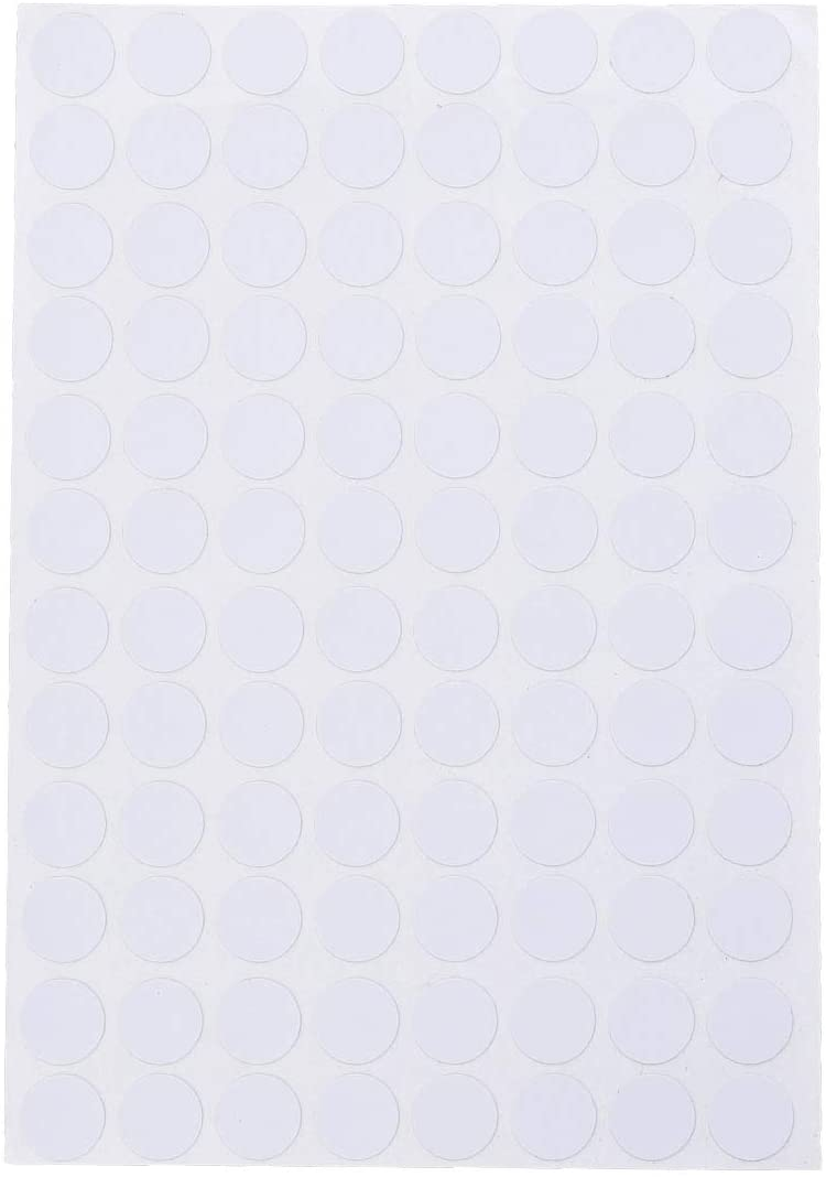 VORCOOL Screw Hole Covers,96Pcs Non-Slip Waterproof Screw Hole Caps 15mm Decorative Stickers