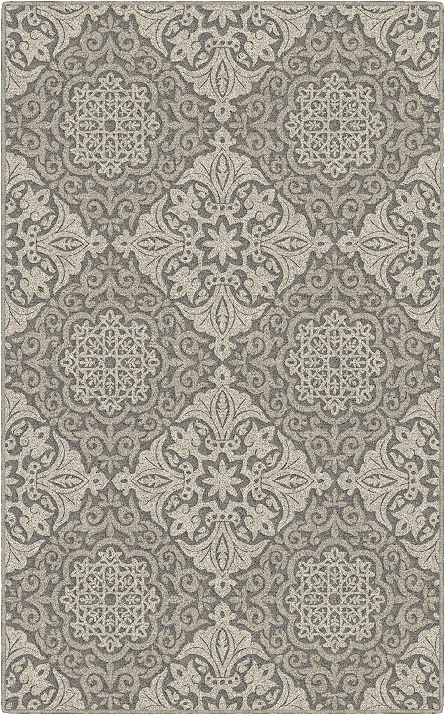 Brumlow Mills Lorena Circles Ornamental Tile Print Home Indoor Area Rug for Living Room Decor, Dining Room, Kitchen Rug, or Bedroom, 5' x 8', Beige