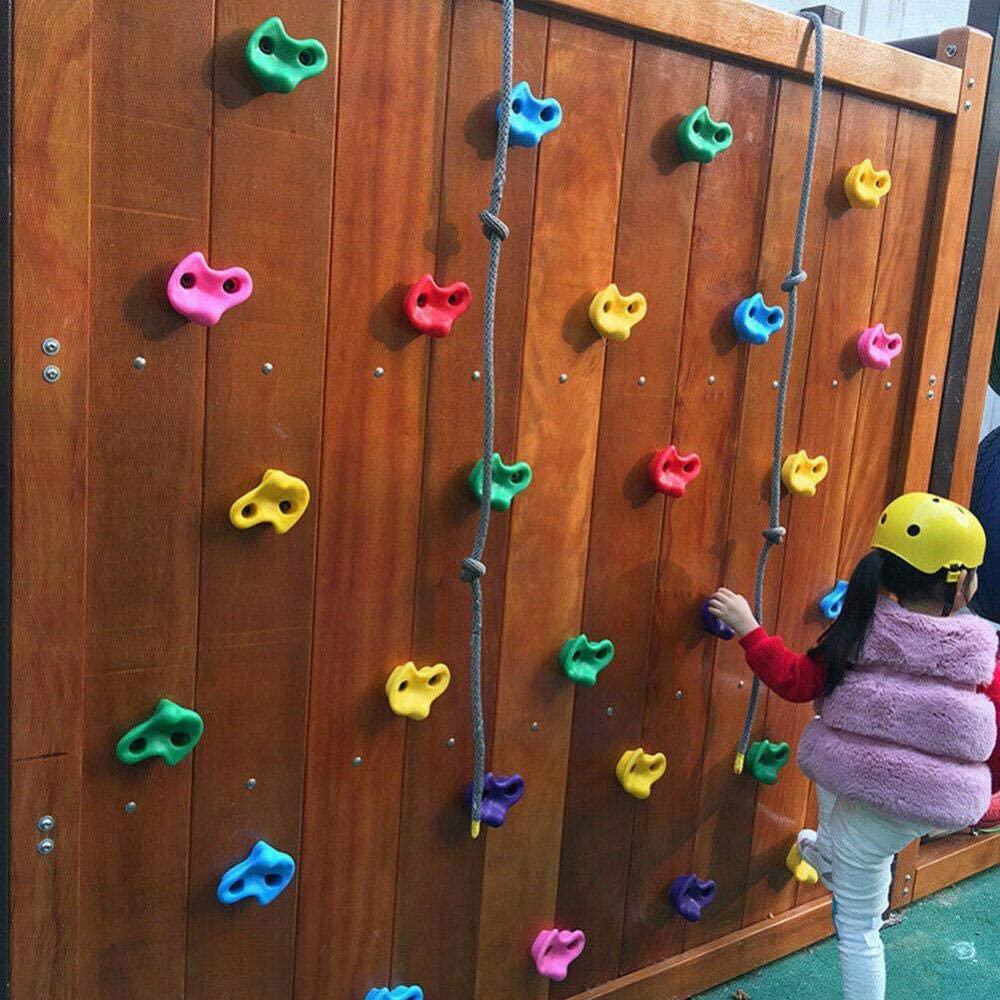 Isaa Miilne Screw Rock Climbing Set for Children Indoor Handle 5 Piece Rock