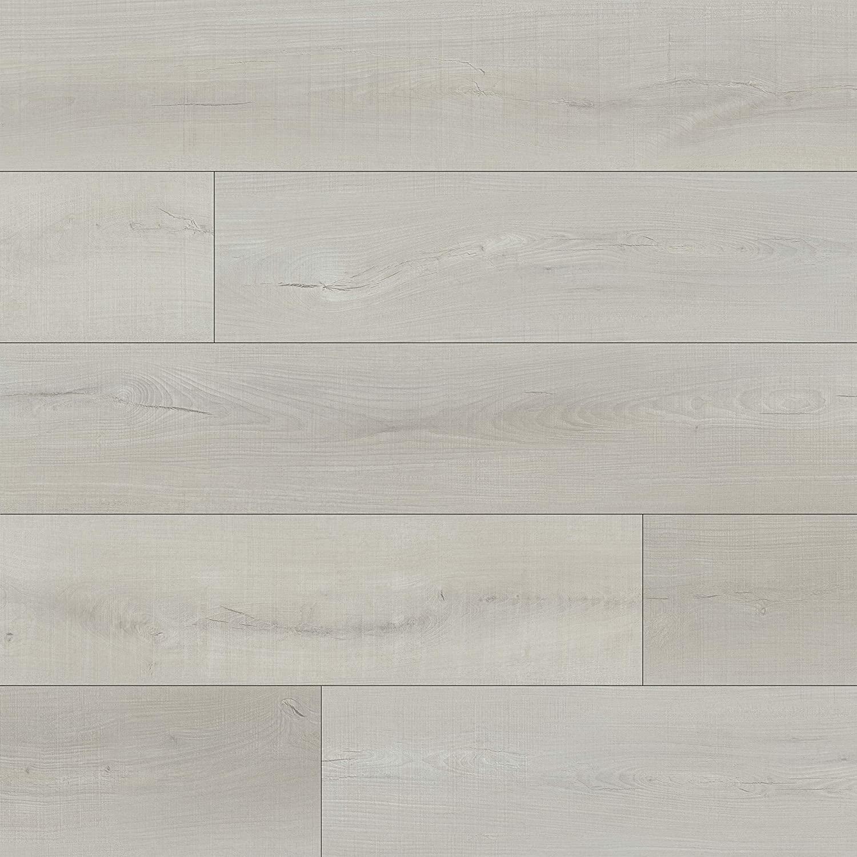 M S International AMZ-LVT-0064 7 inch x 48 inch Luxury Vinyl Planks LVT Tile Click Floating Floor Waterproof Rigid Core Wood Grain Finish Rutledge, CASE, White Shores, 22 Square Feet