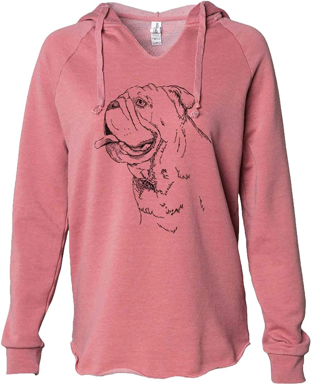 Inkopious English Bulldog Profile - Women's Cali Wave Hooded Sweatshirt