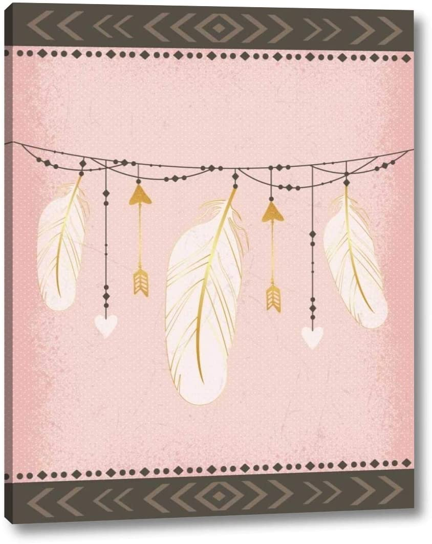 Feathers by ND Art and Design - 12 x 16 Canvas Art Print Gallery Wrapped - Ready to Hang