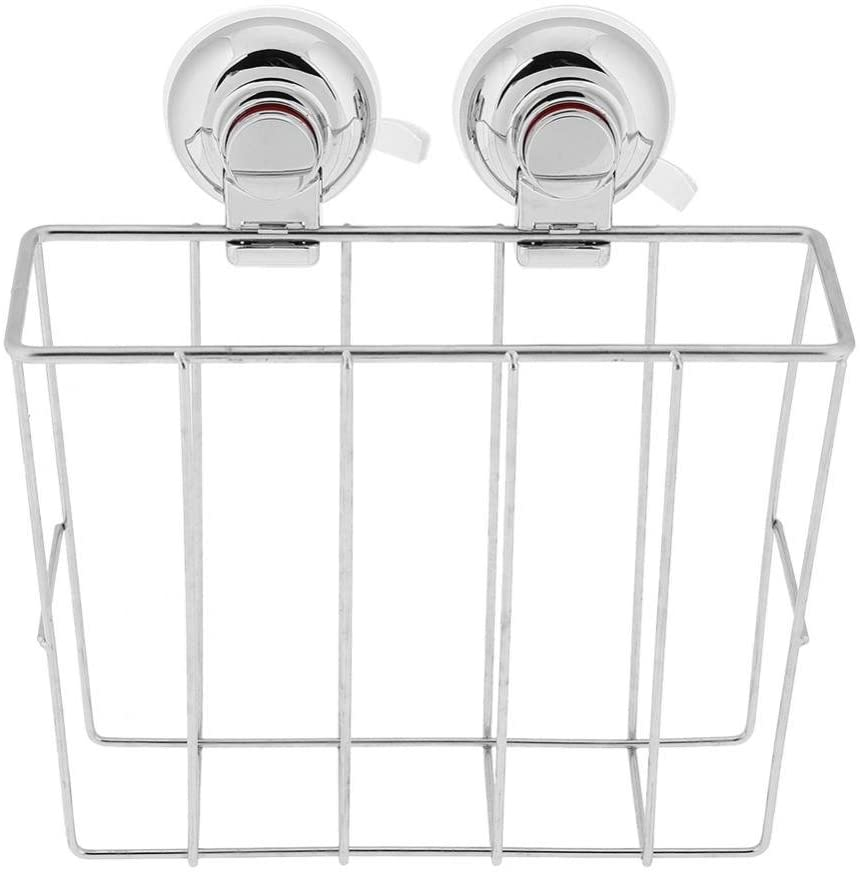 Shower Caddy, Strong Suction Cup Deep Basket Shelf with Suction Cups,Bath Organizer Kitchen Storage Basket for Gel Holder Bathroom Storage Shampoo, Conditioner