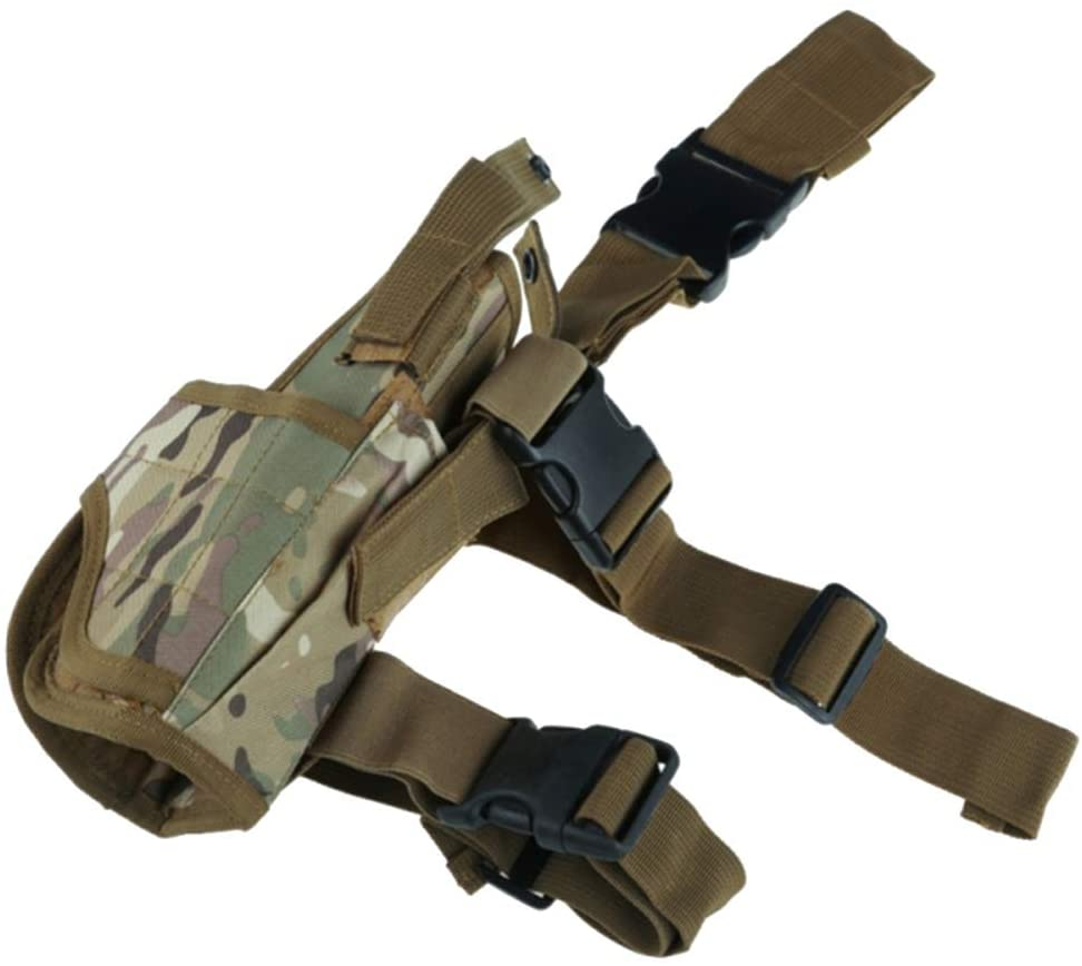 Beher Tactical Drop Leg Thigh Holster Hand Outdoor Gun Pouch with Adjustable Strap