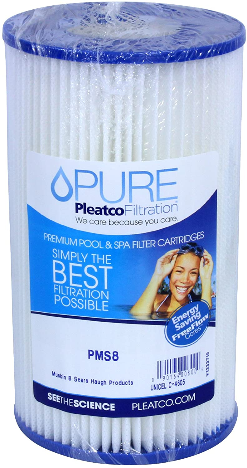Pleatco PMS8 Replacement Cartridge for Muskin 8, Sears, Haugh Products, 1 Cartridge