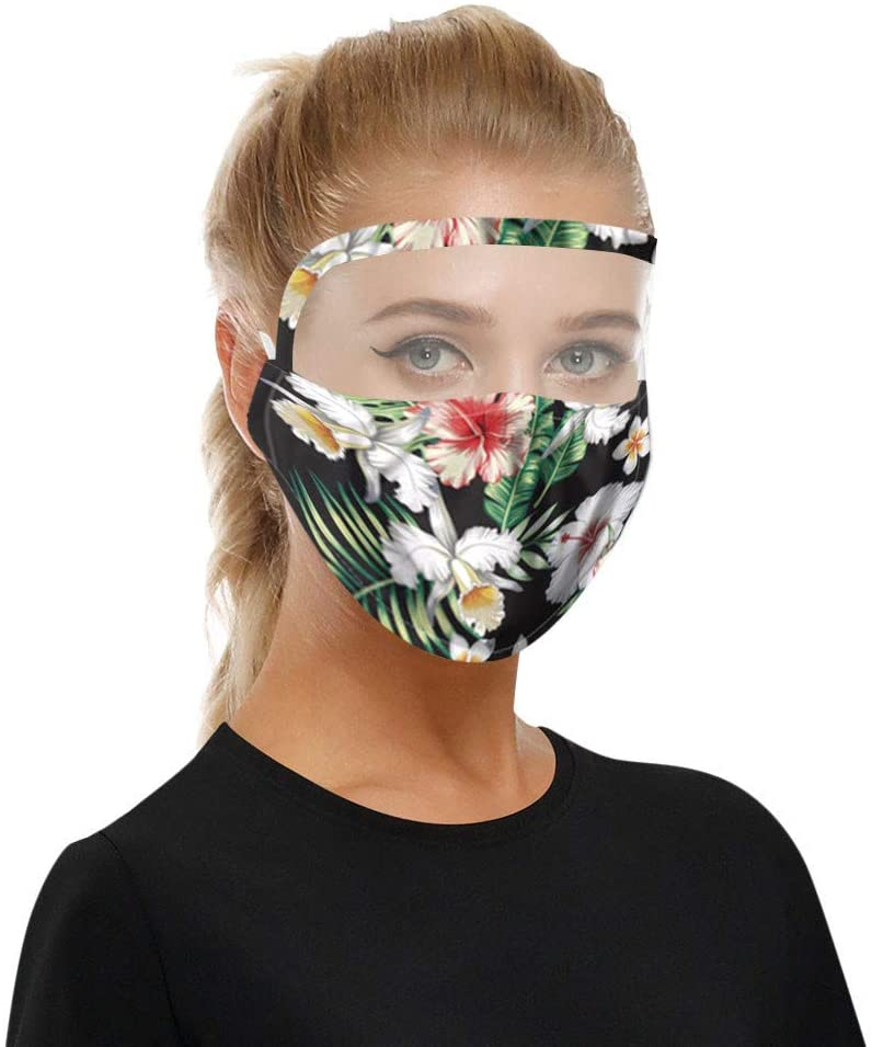 New Safe Protect Cotton Mouth Shield 1Pc Dust Protective Face Shield Washable Eyes Shield Shield with Clear Window Comfortable Face Health Protection