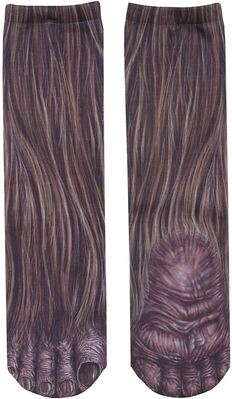 Unisex Adult Animal Paw Crew Socks - Sublimated Print