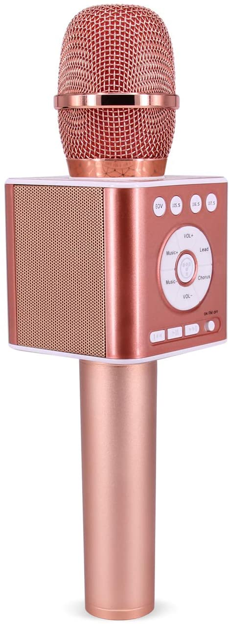TOSING 04S Handheld Karaoke Machine, Wireless Car Leadsinger Karaoke Microphone Bluetooth Speaker 2 in 1 for Birthday Christmas Party Gift and Daily Singing Practice