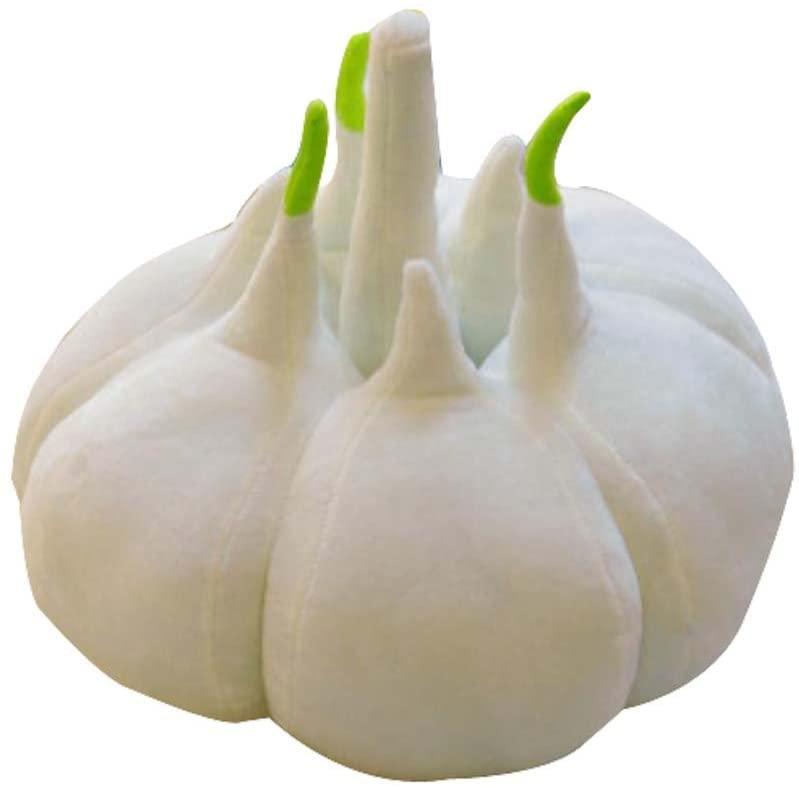 DRAGON SONIC Simulation of Vegetable Plush Toys Pillow Birthday Gift Garlic 38cm