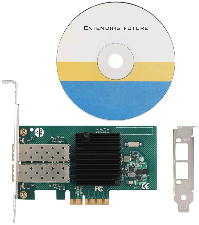 Bewinner Gigabit PCI-E Card,SE-LGI350A-2FB Processor PCI-E X4 Dual Port Ethernet Network Server Adapter,Support PCI Express Basic Specification 2.0,Dual Integrated Chip Controller
