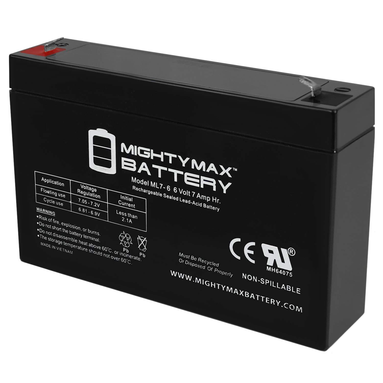 Mighty Max Battery 6V 7Ah Replaces Rastar Lamborghini Aventador LP700-4 + 6V Charger Brand Product