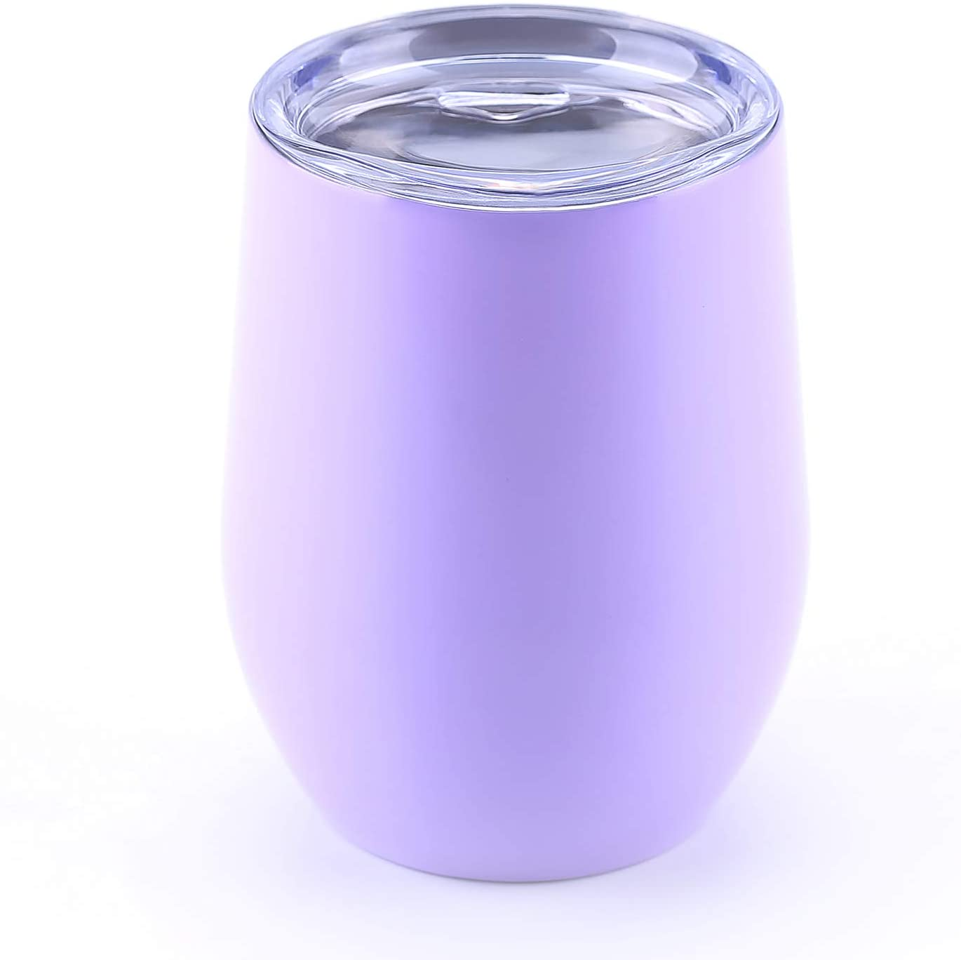 WBRWP 12oz Coffee Cup with Lid : Double-Vacuum Insulated Stainless Steel Stemless-Light Purple