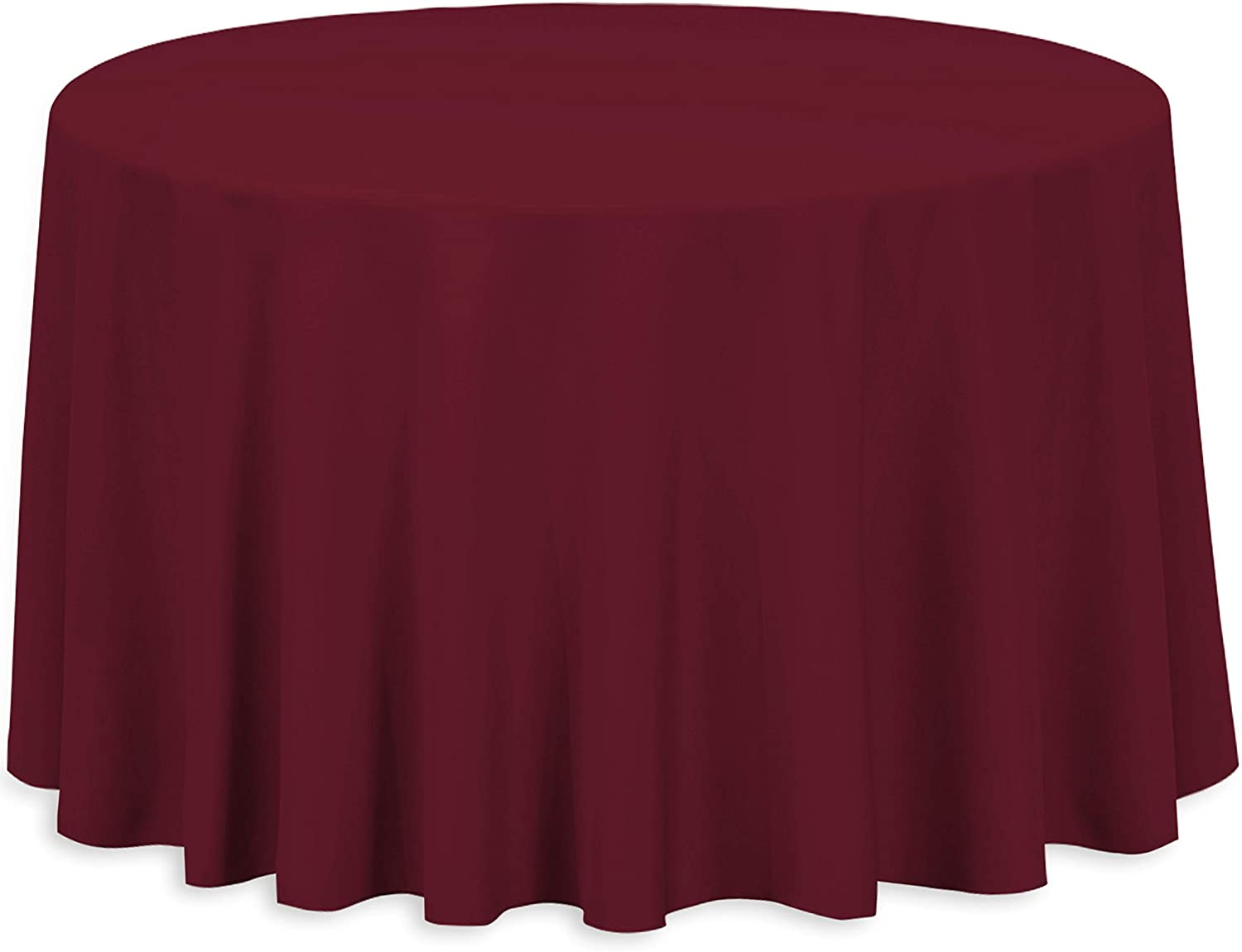 Thanksgiving Tablecloth | 100% Cotton Everyday Quality Table Cloth Great for Buffet Table, Parties, Holiday Dinner, Wedding & More | Round Tablecloth ( 108-Inch Round, Burgundy)