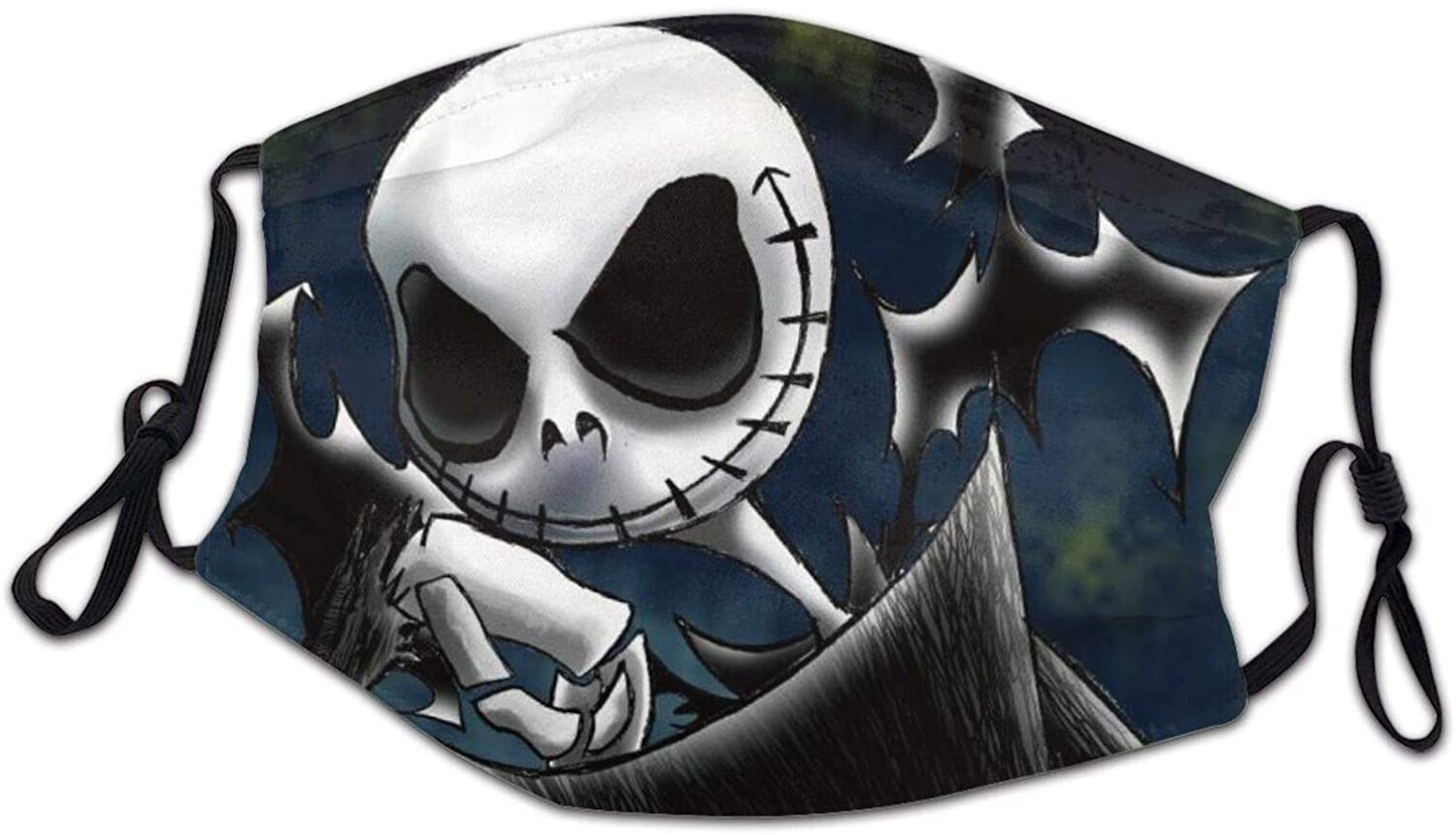 suzzc Nightmare Before Christmas Jack Skellington Cover Adjustable Face Covering Washable