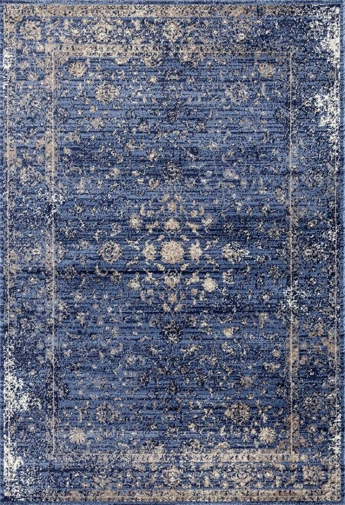 Persian-Rugs 2817 Distressed Blue 5 x 7 Area Rug Carpet Large New