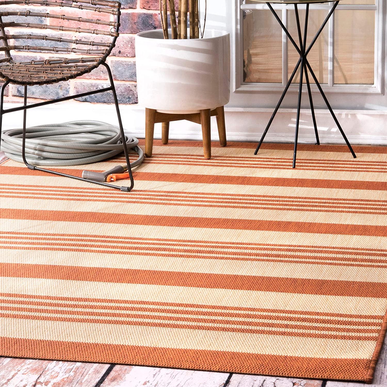 nuLOOM Heidi Multi Striped Indoor/Outdoor Area Rug, 7' 6