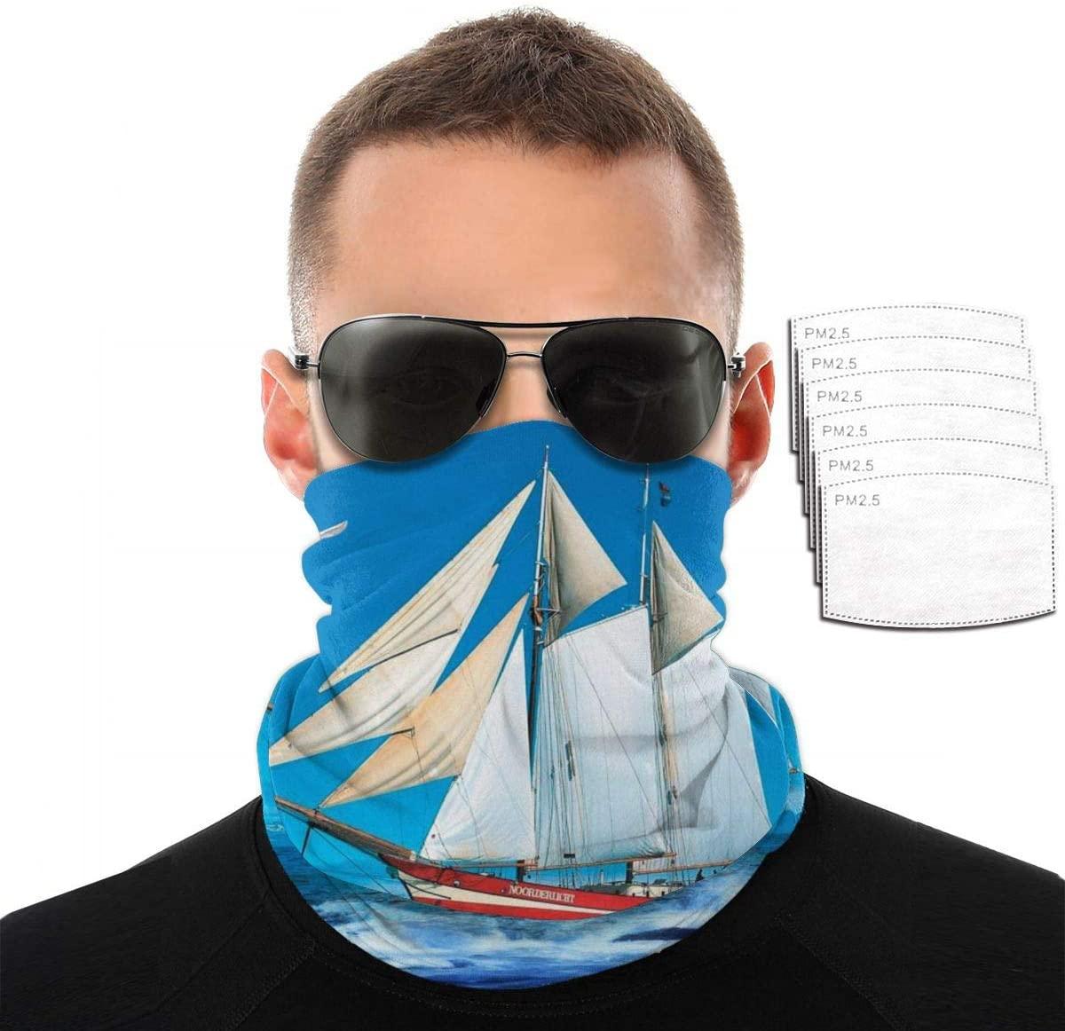 Headwear Unisex Sailing Variety Face Towel Headbands Insert Carbon Filter Bandana Neck Gaiter Face Protector For Dust Outdoors