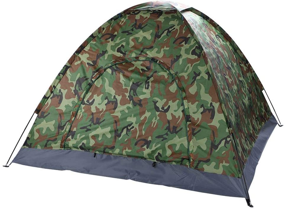 Tralntion 3-4 Person Single Layer Camping Camping TentOutdoor Activities Dome Tent Camouflage Outdoor Activities Hiking Tents