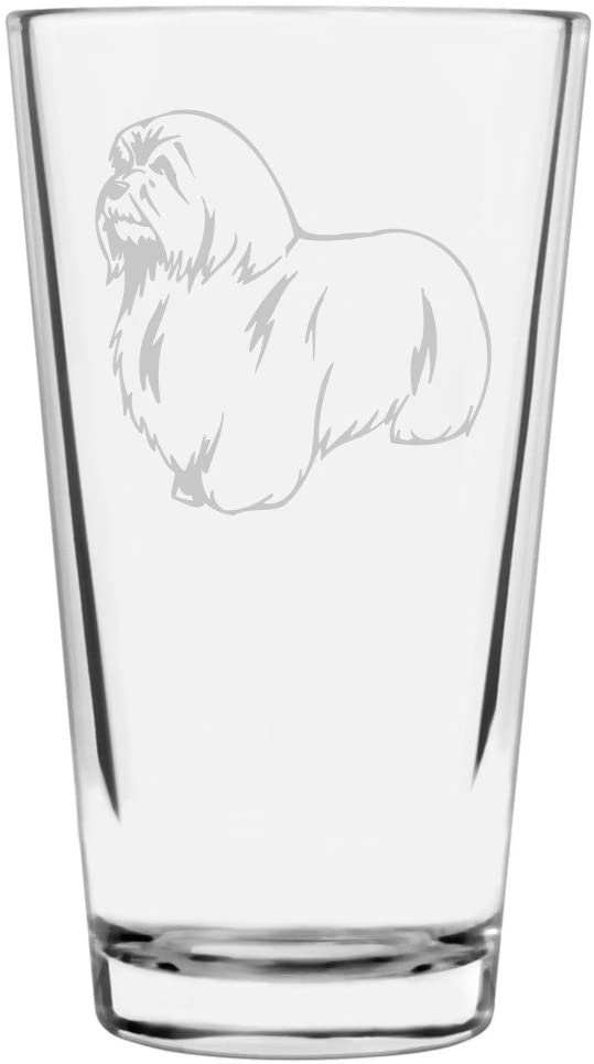 Coton de Tulear Dog Themed Etched All Purpose 16oz Libbey Pint Glass