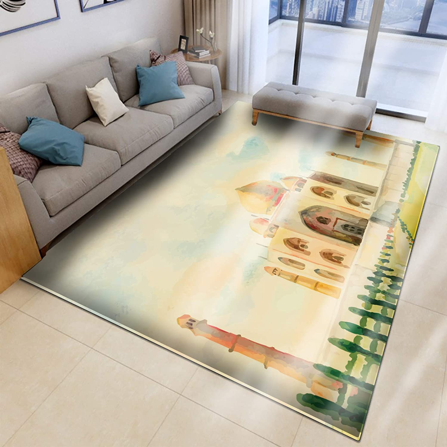 Area Rug for Living Room Bedroom Bathroom Rugs and mats Sets Flannel 3D Carpet Chair Mats for Carpeted Floors (60x90, D186)