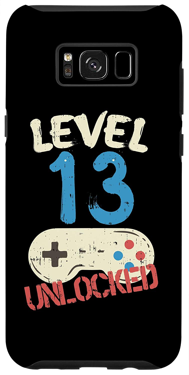 Galaxy S8+ Level 13 Unlocked 13th Birthday Gift Video Gamernager Case