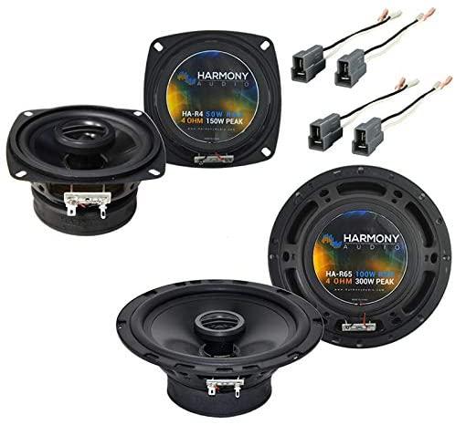 Harmony Audio HA-R4 Speakers Bundle with Harmony Audio HA-R65 Compatible with Dodge D-50 Truck 1987-1993 Factory Speaker Upgrade New