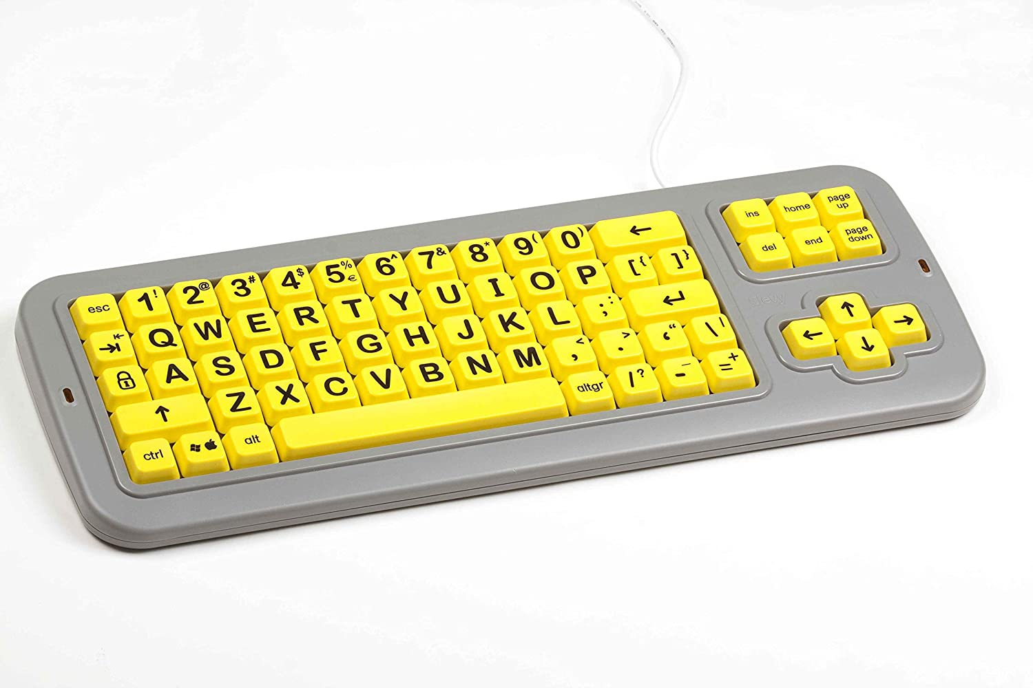 Clevy Color Coded Keyboard Uppercase Yellow Keys with Black Letters - 102694