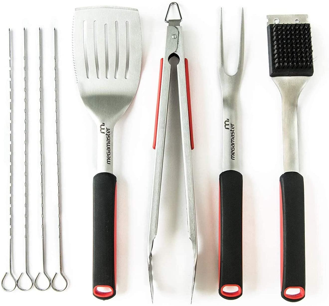 Unknown1 8 Pc Grilling Tool Set Black